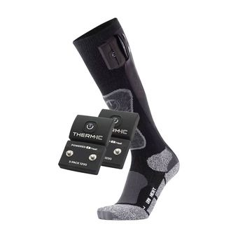 Therm-Ic POWERSOCKS HEAT UNI - Calcetines calefactables black + baterías S-1200