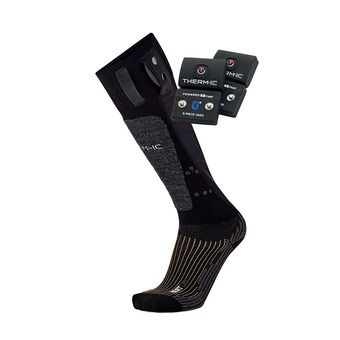 Therm-Ic POWERSOCKS HEAT UNI - Calcetines calefactables black + baterías S-1400B
