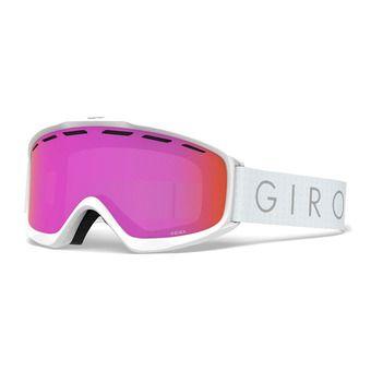 Giro INDEX - Maschera da sci Donna white core light amber pink