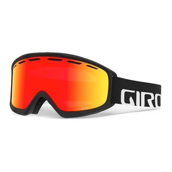 Giro INDEX - Masque ski black wordmark vivid ember
