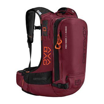 Ortovox FREE RIDER S AVABAG 20L - Mochila airbag dark blood