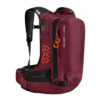 Ortovox FREE RIDER S AVABAG 20L - Sac airbag dark blood