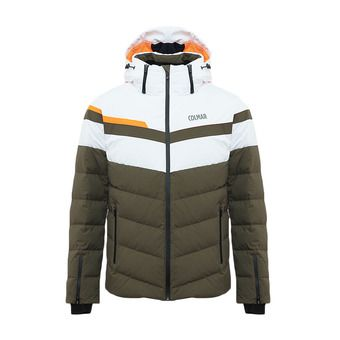 Colmar HOKKAIDO - Doudoune ski Homme jungle/white/orange