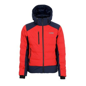 M. DOWN SKI JACKET Homme BRIGHT RED-BLUE BLAC1052-9RT-15