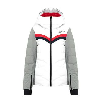 L. DOWN SKI JACKET Femme WHITE-GREYSTONE-BLUE2852-9RT-01