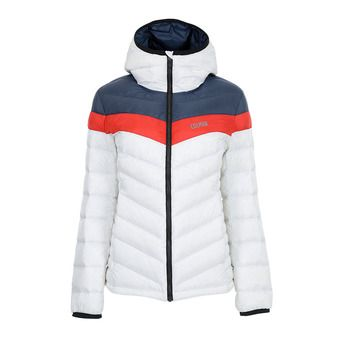 W. DOWN SKI JACKET Femme WHITE-BLUE BLACK-BRI2858-2RT-01