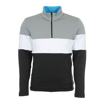 Colmar HALF ZIP EMBOSSED STRETCH - Sweat Homme black/greystone/white