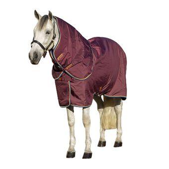 Horseware AMIGO 100 - Coperta da box 100g burgundy/orange teal/navy