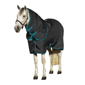 Horseware AMIGO - Coperta pile black teal/dark cherry