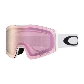 Oakley FALL LINE XM - Masque ski white/prizm snow hi pink iridium