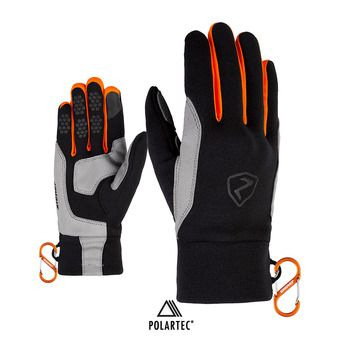 Ziener GUSTY TOUCH - Guantes black/new orange