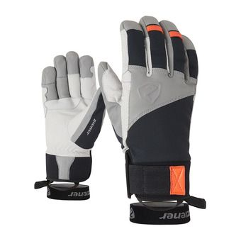 Ziener GAVANUS AS PR - Guantes black/new orange
