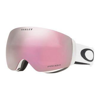 Oakley FLIGHT DECK XM - Gafas de esquí matte white/prizm hi pink iridium