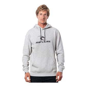 SURF CO. HOODED POP OVER FLEEC Homme CEMENT MARLE