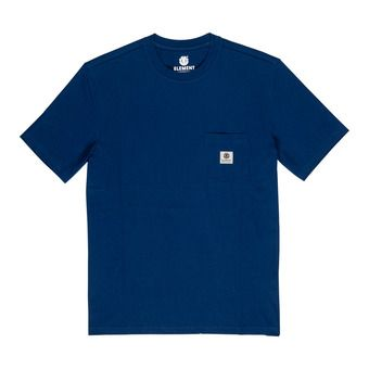 BASIC POCKET LABEL S Homme BLUE DEPTHS