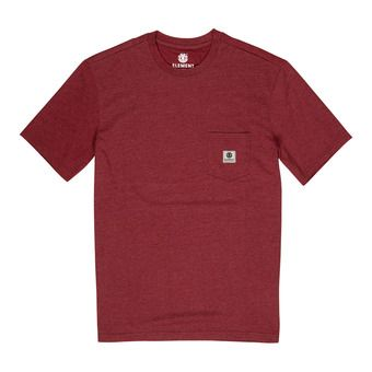 BASIC POCKET LABEL S Homme PORT HEATHER
