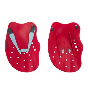 Speedo TECH PADDLE - Swimming Paddles - red/blue/grey