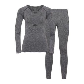 Odlo PERFORMANCE EVOLUTION LIGHT - Sous-couche + Collant Femme steel grey/graphite grey