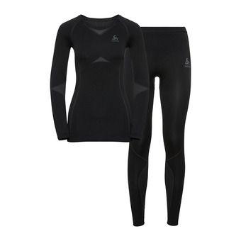 Odlo PERFORMANCE EVOLUTION LIGHT - Sous-couche + Collant Femme black/graphite grey