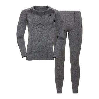 Odlo PERFORMANCE EVOLUTION LIGHT - Sous-couche + Collant Homme steel grey/graphite grey