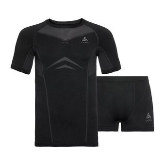 Set PERFORMANCE EVOLUTION LIGHT Homme black - odlo graphite grey