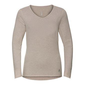 Shirt l/s v-neck LOU LINENCOOL Femme silver cloud melange