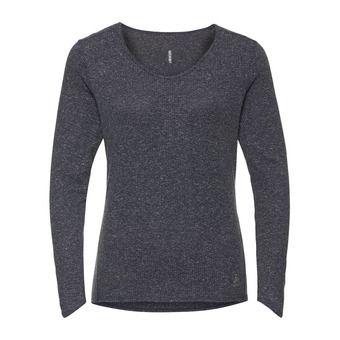 Shirt l/s v-neck LOU LINENCOOL Femme odyssey gray melange