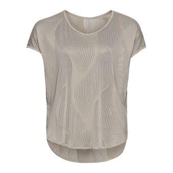 Shirt s/s v-neck MAHA Femme silver cloud - AOP SS20