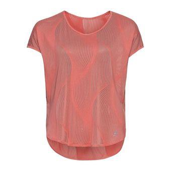 Shirt s/s v-neck MAHA Femme lantana - AOP SS20
