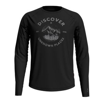 T-shirt l/s crew neck CONCORD Homme black - discover print SS20
