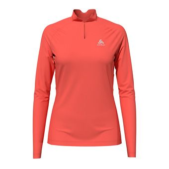 T-shirt l/s crew neck F-DRY Femme hot coral