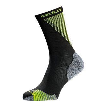 Socks crew CERAMICOOL Unisexe black - safety yellow