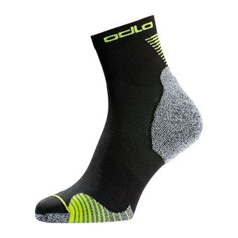 Odlo QUARTER CERAMICOOL - Chaussettes black/safety yellow