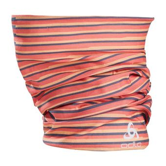 Tube PRINTED Unisexe papaya - hot coral - diving navy