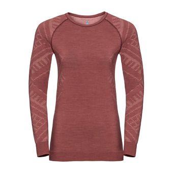 Odlo NATURAL KINSHIP - Camiseta térmica mujer roan rouge melange