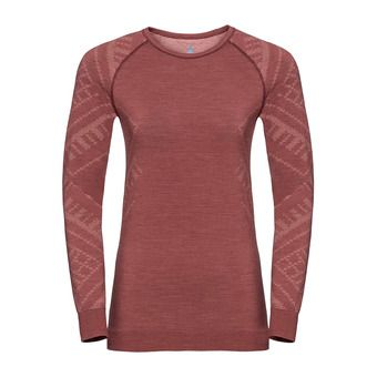 Odlo NATURAL KINSHIP - Sous-couche Femme roan rouge melange