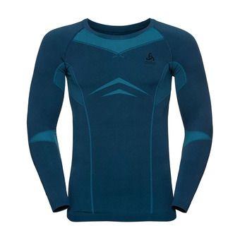 Odlo PERFORMANCE BRUSHED - Camiseta térmica hombre poseidon/blue jewel