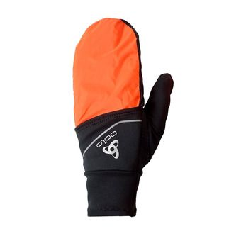 Odlo INTENSITY COVER SAFETY LIGHT - Gants black/orange clown fish