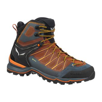 Salewa MTN TRAINER LITE GTX - Hiking Shoes - Men's - black out/carrot