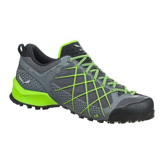 Salewa WILDFIRE - Approach Shoes - Men's - flintstone/fluo green