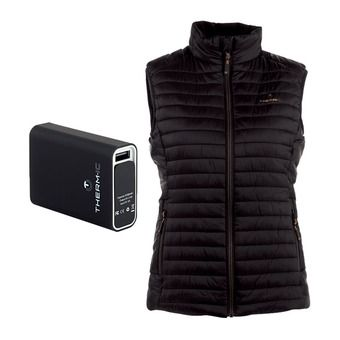 Therm-Ic POWERVEST HEAT - Anorak calefactable mujer black + batería 5200mAh