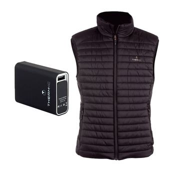 Therm-Ic POWERVEST HEAT - Heated Down Jacket - Men's - black + Battery 5200mAh
