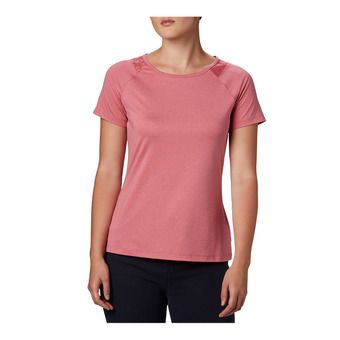 Peak To Point II SS Tee Femme Rouge Peak Heather