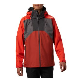 Rain Scape Jacket Homme City Grey, Wildfire, Carnelian Red