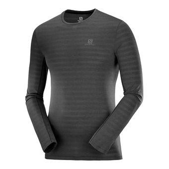 T Shirt XA LS TEE M Black/Heather Homme BLACK/HEATHER