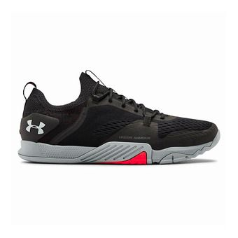 UA TriBase Reign 2-BLK Homme Black/Steel/Halo Gray