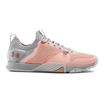 UA W TriBase Reign 2-ORG Femme Peach Frost/Halo Gray/Calla