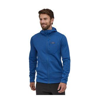 M's R1 Full-Zip Hoody Homme Superior Blue