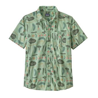 M's Go To Shirt Homme Southern Farm Basket: Gypsum Green