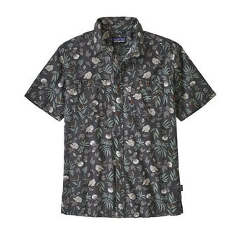 M's Back Step Shirt Homme Fiber Flora Multi: Forge Grey